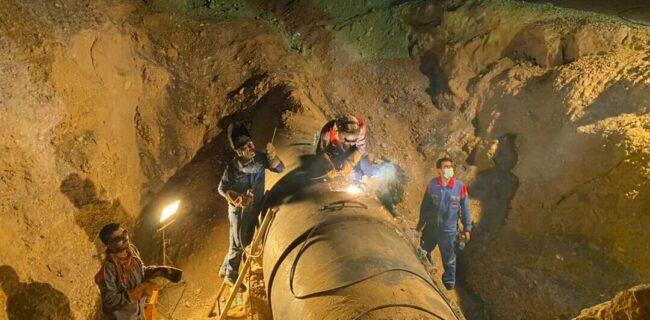 تعمیر اضطراری مانع از تخلیه ۲۷ کیلومتر گاز از خط لوله هفتم سراسری شد