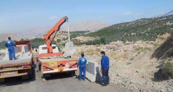 ایمن سازی منطقه رانشی جاده اختصاصی سد لتیان به نیروگاه کلان