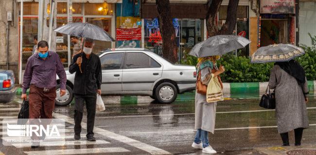 تداوم بارش باران پراکنده در نوار شمالی کشور